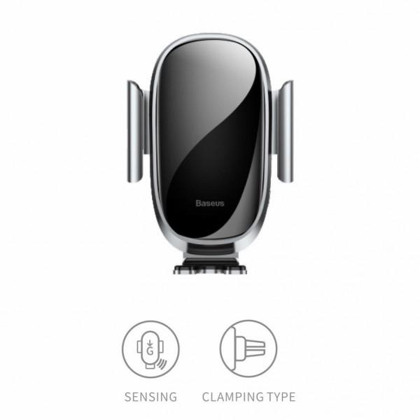 BASEUS Future Gravity Mobilholder med Intelligent Sensor til Luftkanal - Sølv