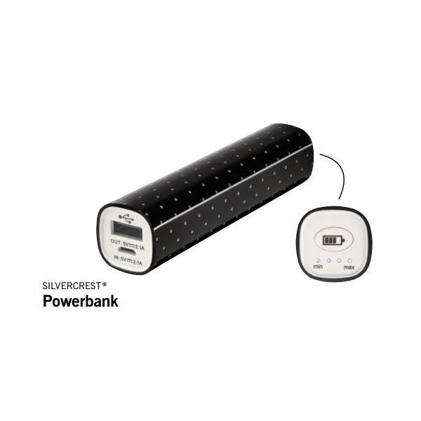 SilverCrest 3000mAh Smart Powerbank - Sort