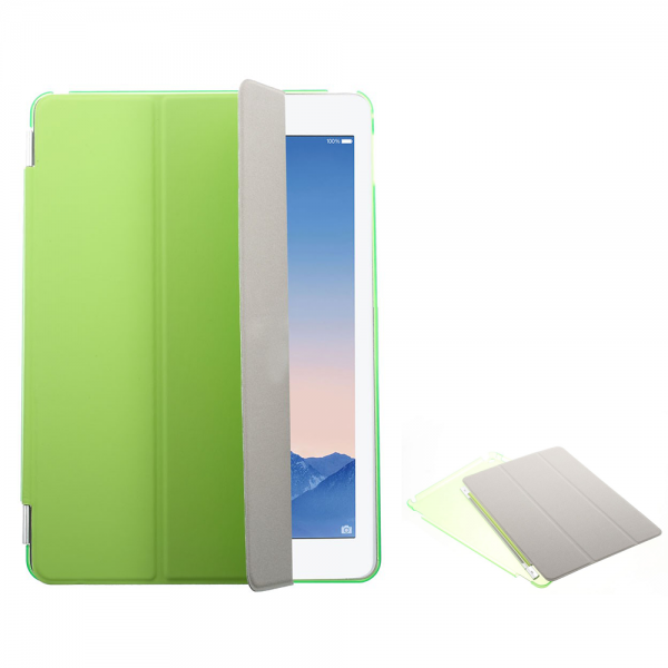 iPad Air Tri-Fold Smart Cover med Magnet og Bag Cover - Grøn