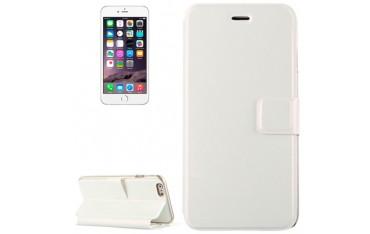 iPhone 6 Plus / 6S Plus VOLTAGE Læder Wallet Etui - Hvid