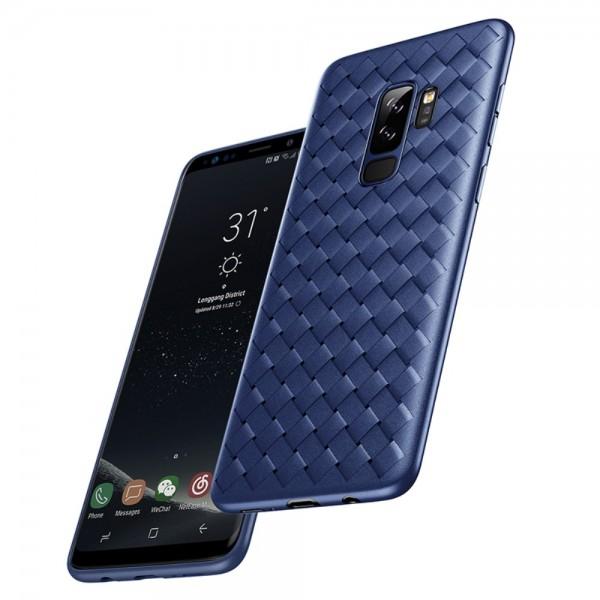 Samsung Galaxy S9+ BASEUS BV Woven Texture Soft TPU Cover - Blå