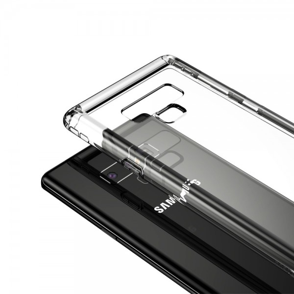 Samsung Galaxy Note 9 BASEUS Safety Airbag Series Cover Gennimsigtig