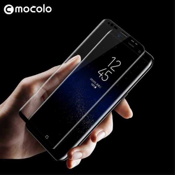 Samsung Galaxy S8 MOCOLO Full Coverage Beskyttelsesglas Sort