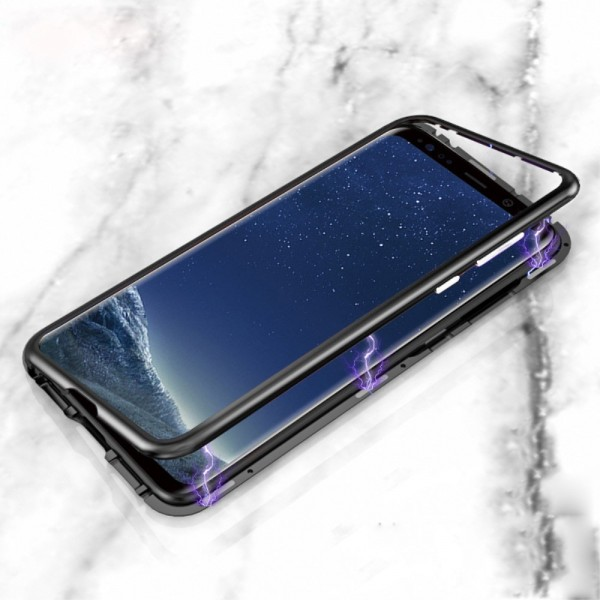 Samsung Galaxy S9 Plus Glas Cover med Magnetisk Ramme Sort