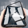 iPhone X / XS Magnetisk Cover med Beskyttelsesglas til Bagsiden - Sort