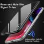 iPhone XS Max Double-Sided Magnetisk Aluramme Cover med Beskyttelsesglas Sølv
