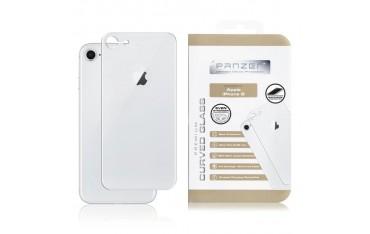 iPhone 8 PANZER Curved Silicate Glass - Beskyttelsesglas til Bagsiden - Silver
