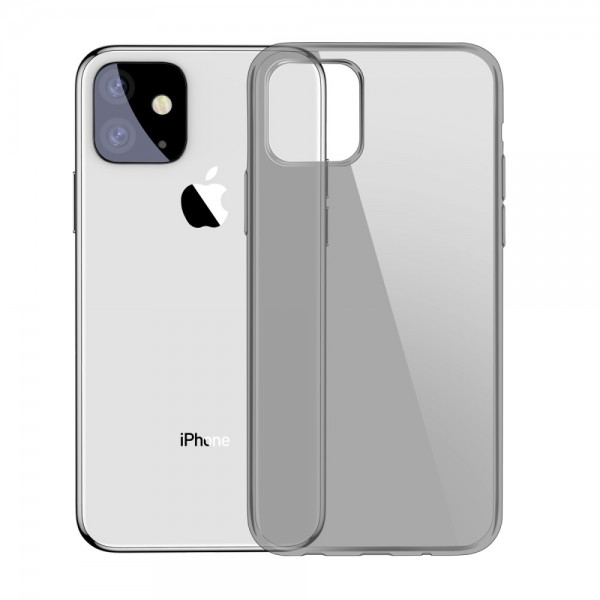 iPhone 11 6.1 inch BASEUS Simple Series TPU Cover - Gennemsigtig Sort