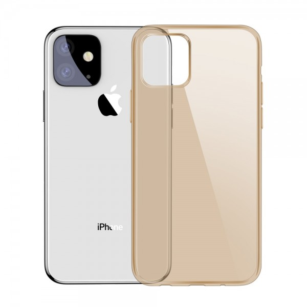 iPhone 11 6.1 inch BASEUS Simple Series TPU Cover - Guld