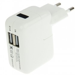 Høj kvalitet 2 x USB oplader til iPhone 5S & 5C & 5 / iPod touch 5 / iPad 4 / iPad mini