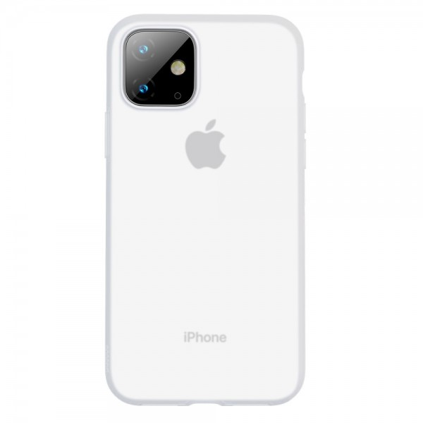 iPhone 11 BASEUS Liquid Silicone Shell Cover - Hvid