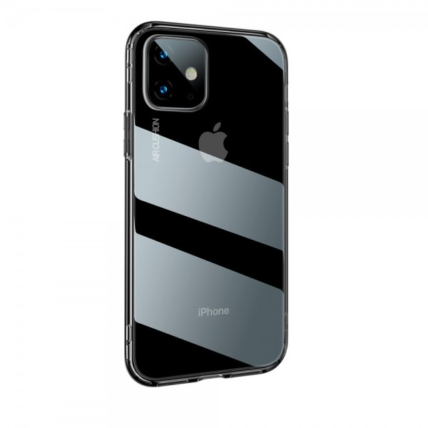 iPhone 11 BASEUS Drop-resistant TPU Cover - Gennemsigtig Sort