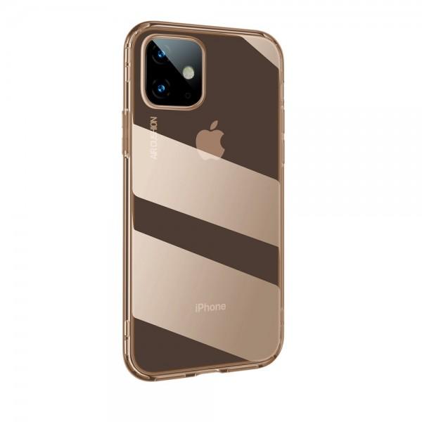iPhone 11 BASEUS Drop-resistant TPU Cover - Gennemsigtig Guld