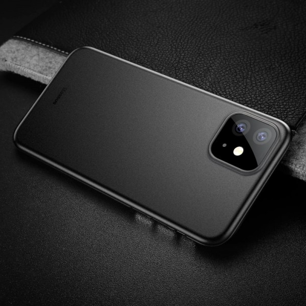 iPhone 11 BASEUS Ultra Thin Matte PP Cover - Sort