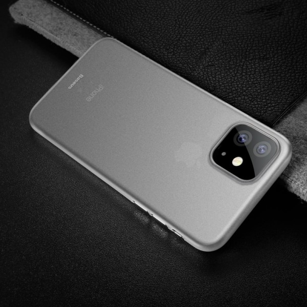 iPhone 11 BASEUS Ultra Thin Matte PP Cover - Hvid