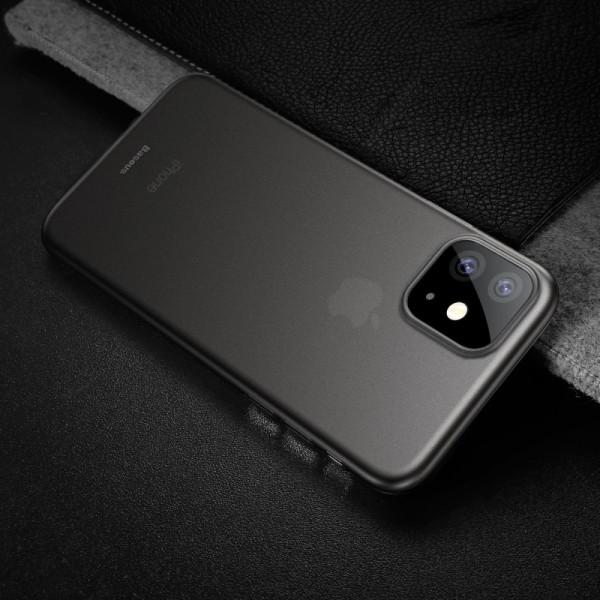 iPhone 11 BASEUS Ultra Thin Matte PP Cover - Gennemsigtig Sort