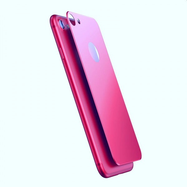 BASEUS iPhone 7  3D Silk-screen Back Glass Film - Pink