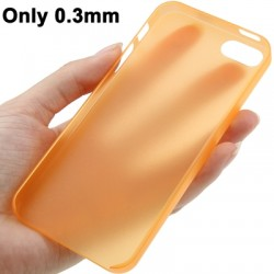 0.3 mm Ultra Tynd Polycarbonate TPU Cover til iPhone 5/5S - Orange