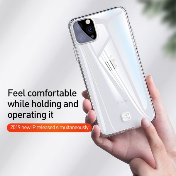 iPhone 11 PRO BASEUS Clear TPU Cover - Gennemsigtig Sort