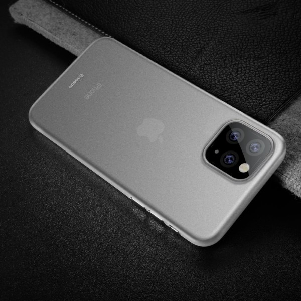 iPhone 11 PRO BASEUS Ultra Thin Matte Cover - Hvid