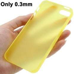 0.3 mm Ultra Tynd Polycarbonate TPU Cover til iPhone 5/5S - Gul