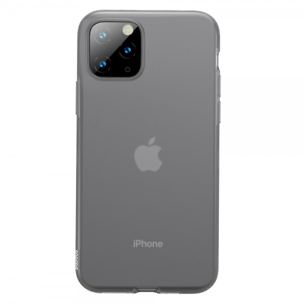 iPhone 11 PRO MAX BASEUS Liquid Silicone Shell Cover - Sort
