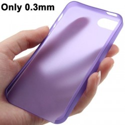 0.3 mm Ultra Tynd Polycarbonate TPU Cover til iPhone 5/5S - Lilla