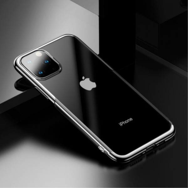 iPhone 11 PRO MAX BASEUS Shining Series Plated TPU Cover - Sølv