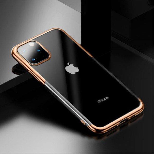 iPhone 11 PRO MAX BASEUS Shining Series Plated TPU Cover - Guld