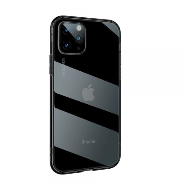 iPhone 11 PRO MAX BASEUS Drop-resistant TPU Cover - Gennemsigtig Sort