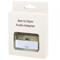 30 PIN Female til Lightning 8 PIN Male Audio Adapter med 3,5 mm Jack til iPhone 5 / 5S / iPad Mini / iPad 4