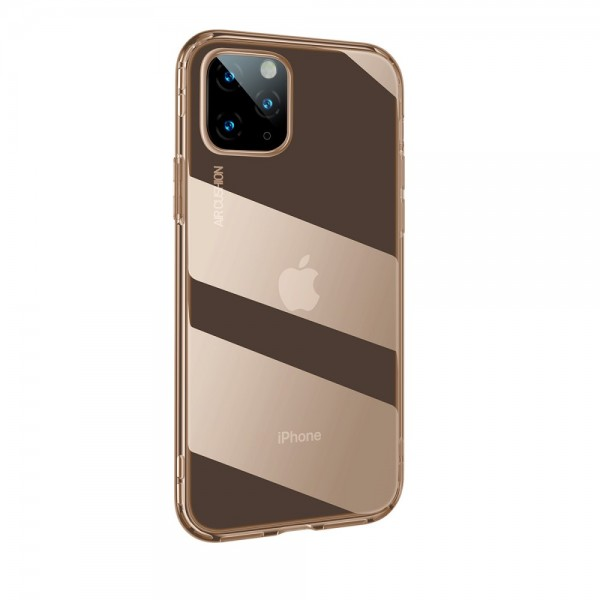 iPhone 11 PRO MAX BASEUS Drop-resistant TPU Cover - Gennemsigtig Guld