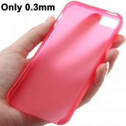 0.3 mm Ultra Tynd Polycarbonate TPU Cover til iPhone 5/5S - Rød