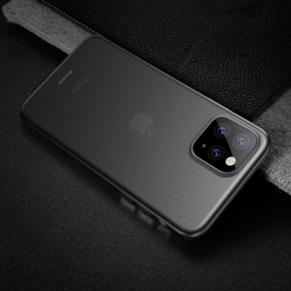 iPhone 11 PRO MAX BASEUS Ultra Thin Matte Cover - Gennemsigtig Sort