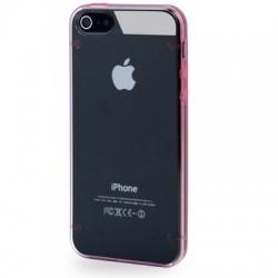 2 - Farve TPU & Transparent Cover til iPhone 5/5S - Lilla