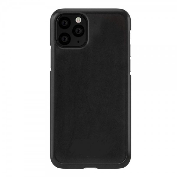 Original iPhone 11 PRO MAX Læder Cover -Sort