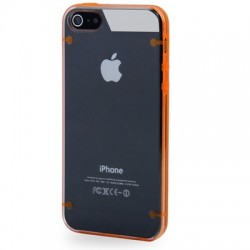 2 - Farve TPU & Transparent Cover til iPhone 5/5S - Orange