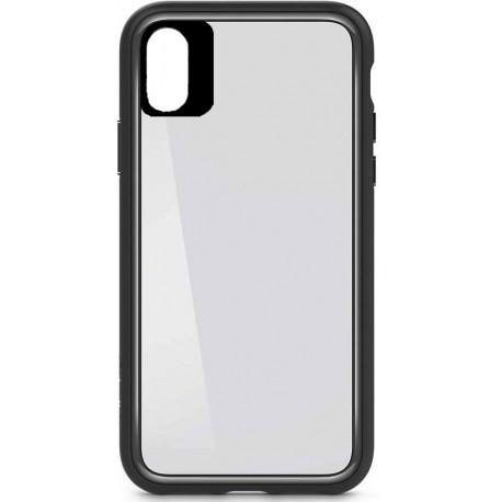 Original Case iPhone X/XS Cover - Gennemsigtig med Sort kant