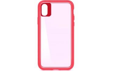 iPhone X / XS Smart TPU Cover - Gennemsigtig med Rød kant