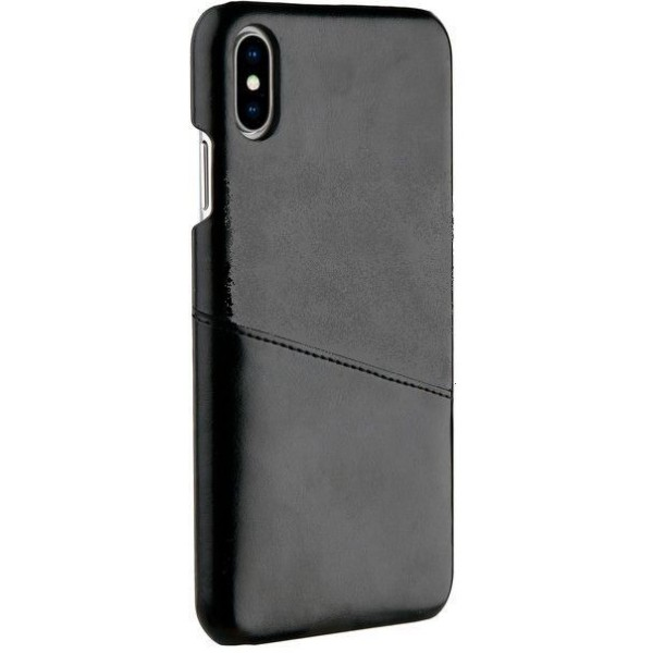 VIVANCO iPhone X/XS Læder Cover med Kort Lomme- Sort