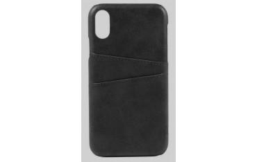 SUTENI iPhone X / XS Læder Cover med Kort Lomme - Sort