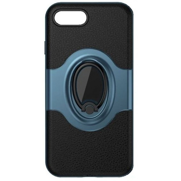 Magnetisk Ring iPhone 7/7 Plus Cover - Sort og Blå