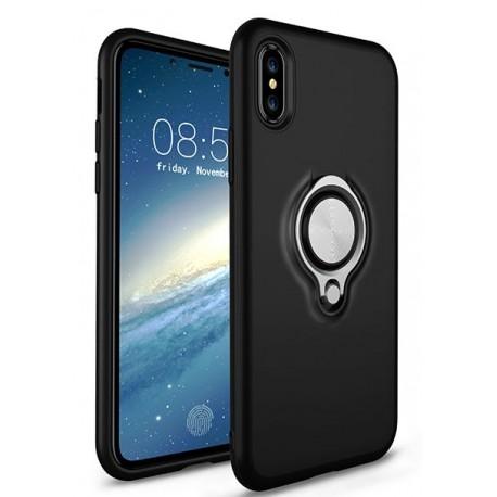 CASE iPhone X / XS Cover med Ringholder - Sort