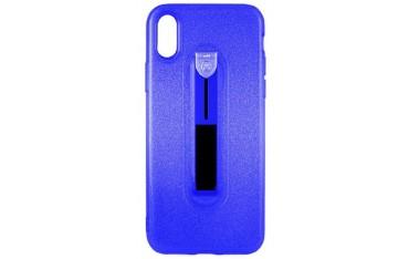 CASE iPhone X / XS Cover med Fast Holder - Blå