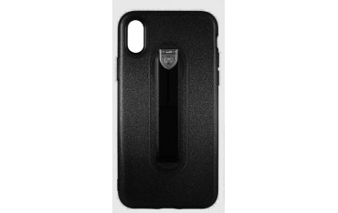 CASE iPhone X / XS Cover med Fast Holder - Sort