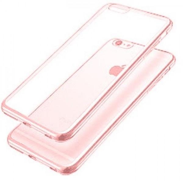 iPhone 7/8 Silikone Cover - Gennemsigtig med Grafitgrå kant