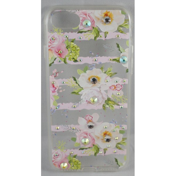 CASE iPhone 7 / 8 TPU Cover med Glimmer Steen