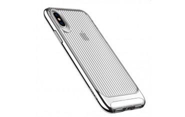USAMS iPhone X / XS Cover med Bølge Teksture og Sort kant