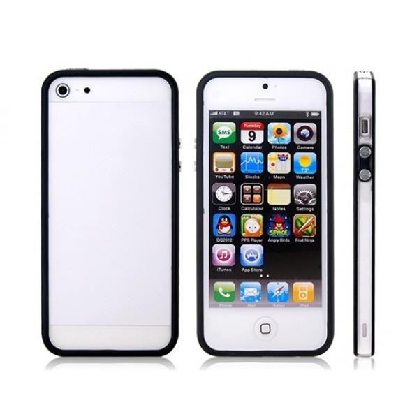 Linear EX SGP Case Plastik Kombination Bumper med Knapper til iPhone 5 - SORT