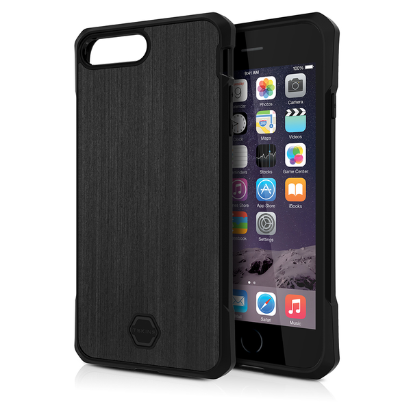 ITSKINS Antishock Wood Case Cover til iPhone SE(2020) / 7 / 8 -  Sort